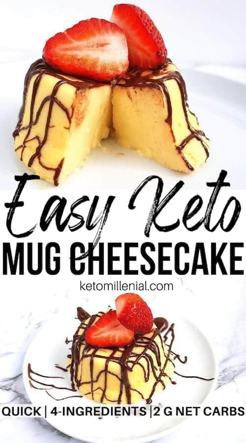 Ridiculously creamy keto cheesecake in microwave with just 4 ingredients. This keto cheesecake in a cup recipe is so easy to make and requires no baking skills. If you've been craving for a moist and satisfying keto cream cheese, give it a try now!