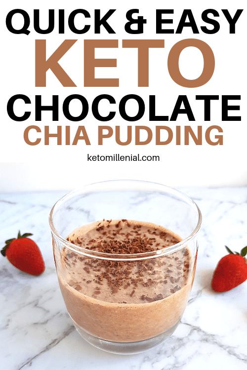 Keto Chocolate Chia Pudding With Coconut Milk Vegan Low Carb